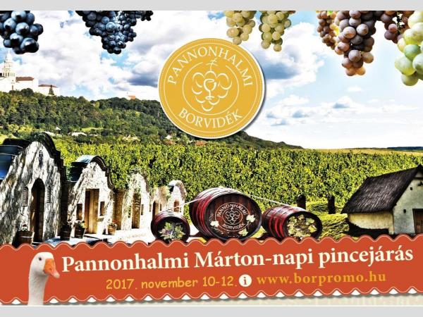 Márton-napi pincejárás a Pannonhalmi Borvidéken 2017. november 10 - 12.